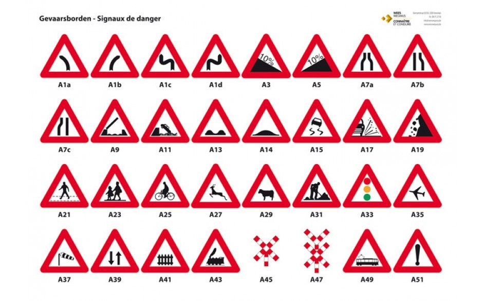 panneaux reprenant les signaux routiers equipement pour. Black Bedroom Furniture Sets. Home Design Ideas