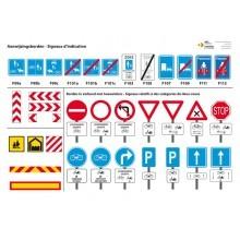 Panneaux reprenant les signaux routiers